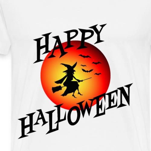 Happy Halloween Hexe Silhouette Kostüm Geschenk - Männer Premium T-Shirt