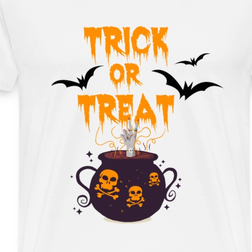 Halloween Trick or Treat Motiv mit Hand im Kessel - Männer Premium T-Shirt