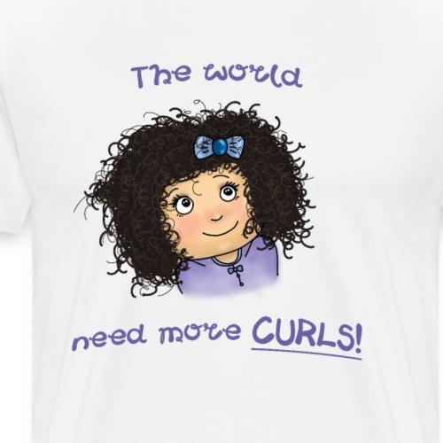 Locken Haarlocken | Fashion Girls - Männer Premium T-Shirt