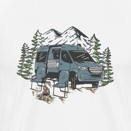 Lebe dein Leben unterwegs - by Life to go - Männer Premium T-Shirt