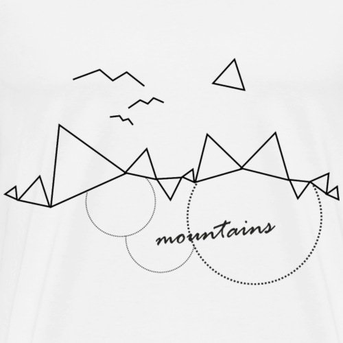 MOUNTAINS - GEOMETRY - Maglietta Premium da uomo