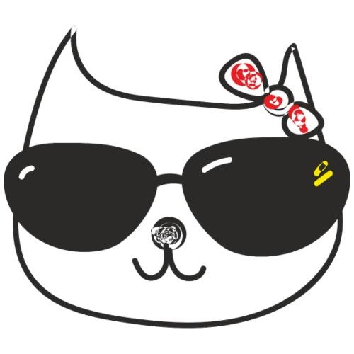 Katze mit Sonnenbrille und Schleife - Männer Premium T-Shirt
