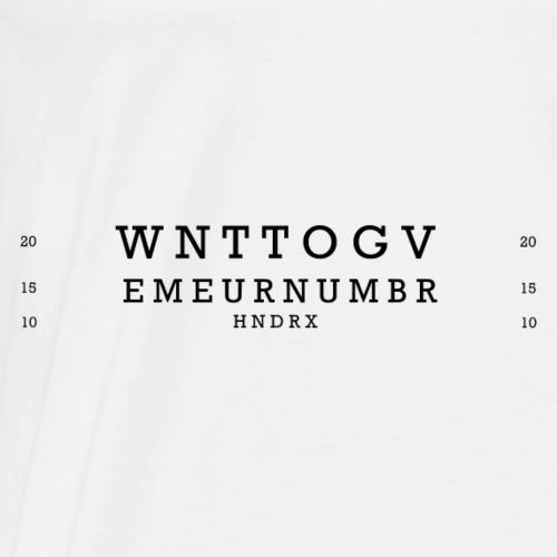 Number black - Men's Premium T-Shirt