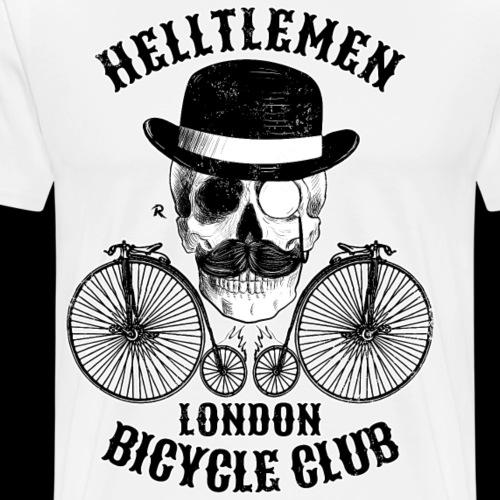 Calavera y bicicleta vintage (Helltlemen) - Camiseta premium hombre