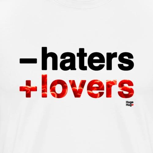 -haters +lovers (edición corazones) - Camiseta premium hombre