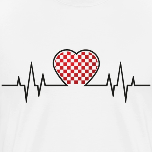 From Croatia with Love - Croatian heart beat black