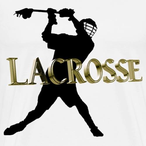 Lacrosse 3D Design - Männer Premium T-Shirt