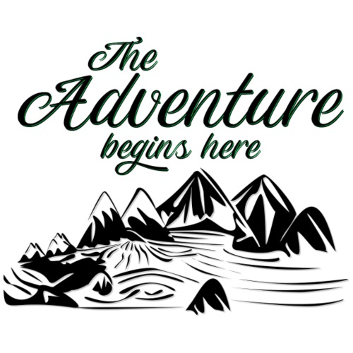 The Adventure begins here Wandern - Männer Premium T-Shirt