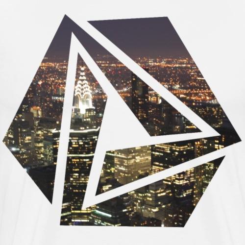 Nuit infinie de triangle - T-shirt Premium Homme