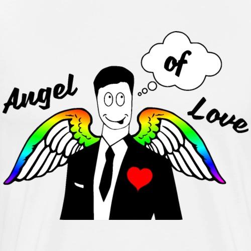 Angel of Love Regenbogen - Männer Premium T-Shirt