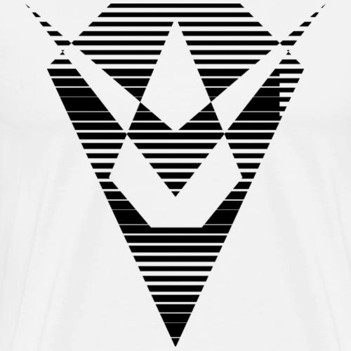 Noir losange - T-shirt Premium Homme