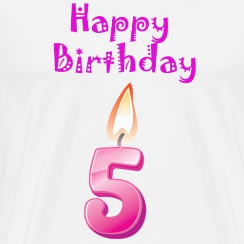 5 five with Candlelight Happy Birthday Geburtstag - Männer Premium T-Shirt