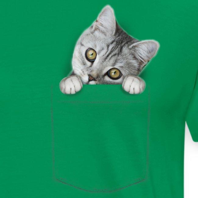 Vorschau: cat pocket - Männer Premium T-Shirt