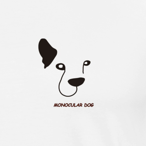 MONOCULAR DOG - Camiseta premium hombre