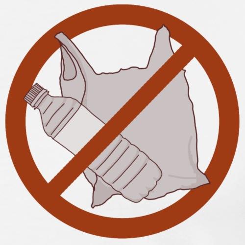 No Plastic Warnschild Umweltschutz - Männer Premium T-Shirt