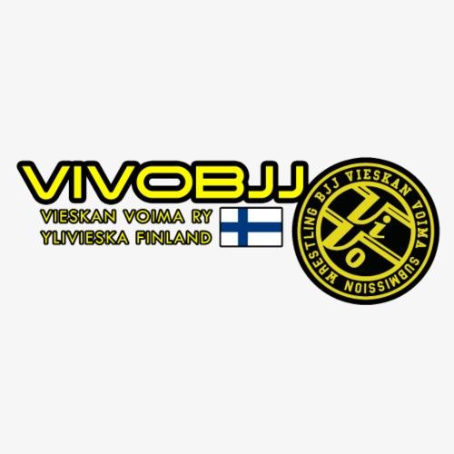 ViVoBJJ Patch White - Miesten premium t-paita