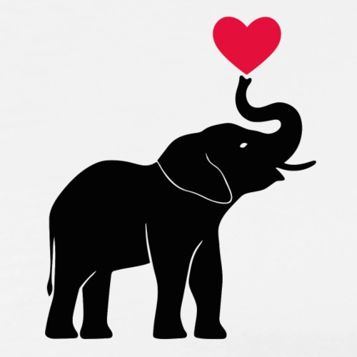 Love Elephants - Men's Premium T-Shirt