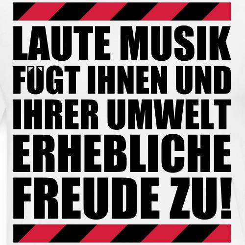 Laute Musik = Freude Fun lustiger Spruch Festival - Männer Premium T-Shirt