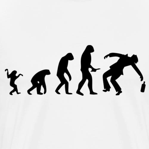 Evolution of Human to a alcoholic - Männer Premium T-Shirt