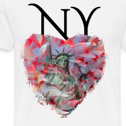 My heART beats for New York - Männer Premium T-Shirt