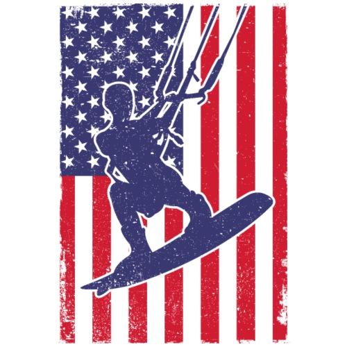 Kitesurfer USA - Männer Premium T-Shirt