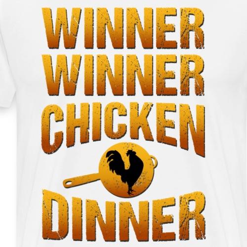 Winner Winner Chickendinner - Männer Premium T-Shirt