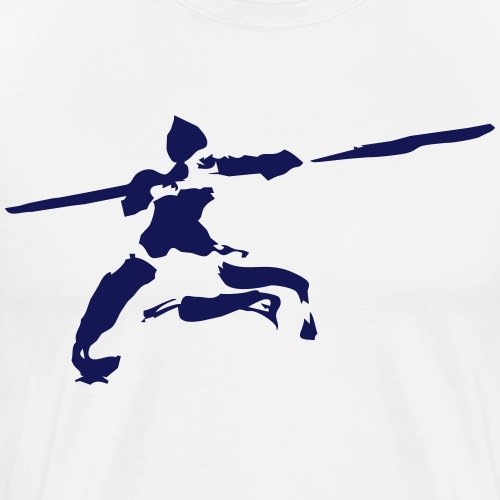 Kungfu stick fighter / ink - Men's Premium T-Shirt