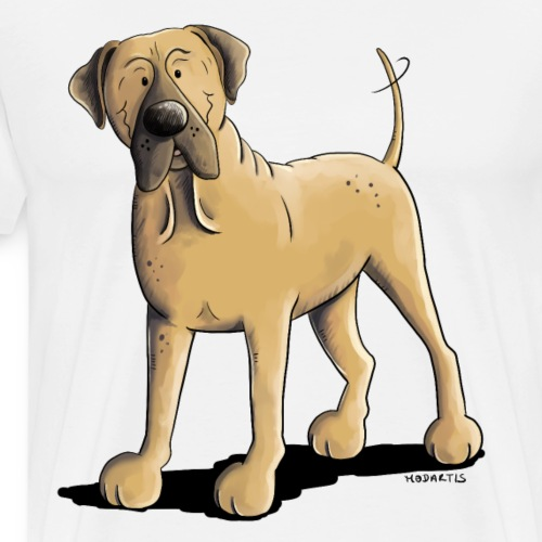 Lustiger Bullmastiff I Comic Hund I Geschenk - Männer Premium T-Shirt