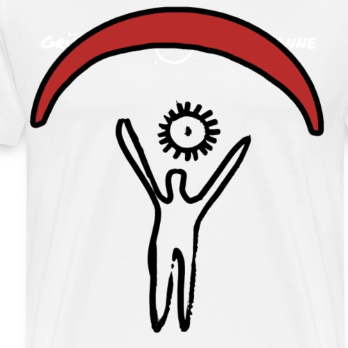 Weiß, Grüß mir die Sonne - Männer Premium T-Shirt