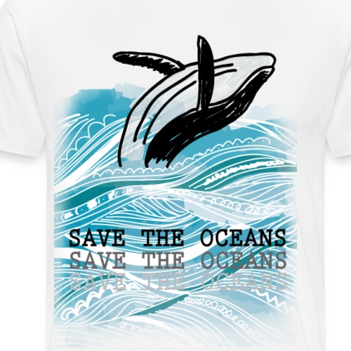 SAVE THE OCEANS - Männer Premium T-Shirt