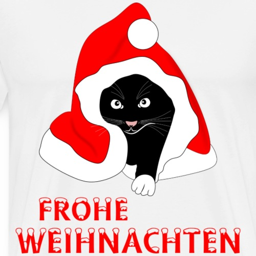 Frohe Weihnachten - Schwarze Katze - Men's Premium T-Shirt