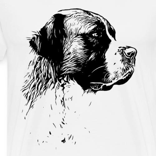 Bernhardiner Hunde Design Geschenkidee - Männer Premium T-Shirt