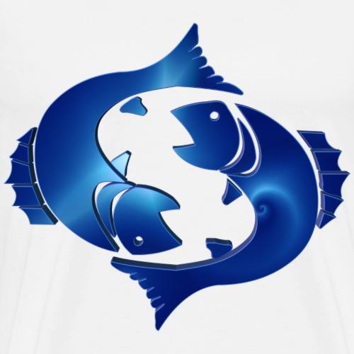 Zodiac Pisces The Fish 14 March - 14 April - Men's Premium T-Shirt