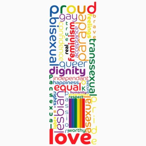 Pride Word Design - Men's Premium T-Shirt