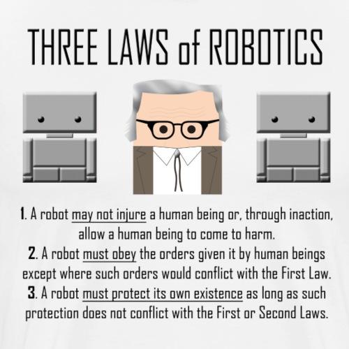 Three Laws of Robotics - Maglietta Premium da uomo