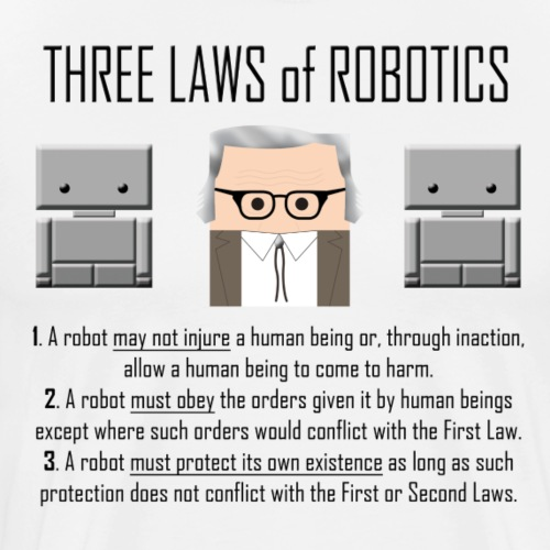 Three Laws of Robotics - Men's Premium T-Shirt
