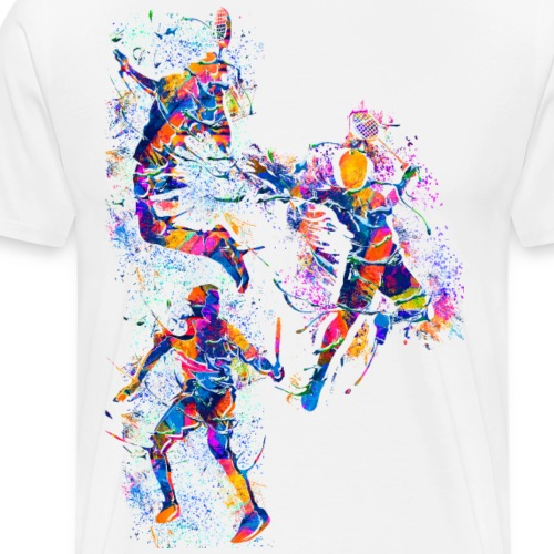 Badminton - Smash - Badminton - Bunt - Männer Premium T-Shirt