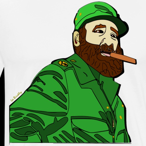 Fidel Castro revolutionary design - Men's Premium T-Shirt