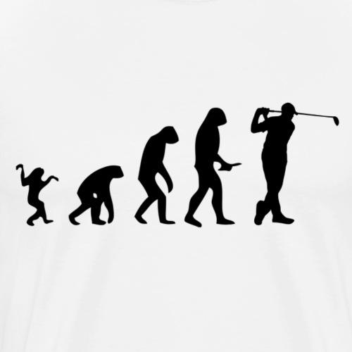 Evolution of Human to a Golfer - Männer Premium T-Shirt