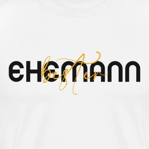 Bester Ehemann - Spruch in Schwarz/Gelb - Men's Premium T-Shirt