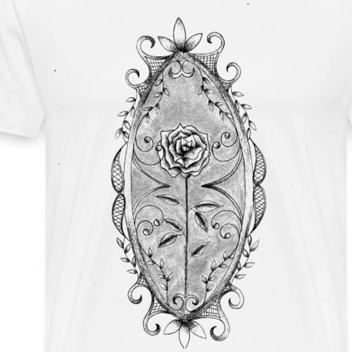 rose baroque - T-shirt Premium Homme
