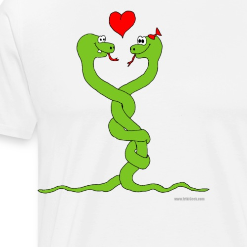 serpientes enamoradas - Camiseta premium hombre
