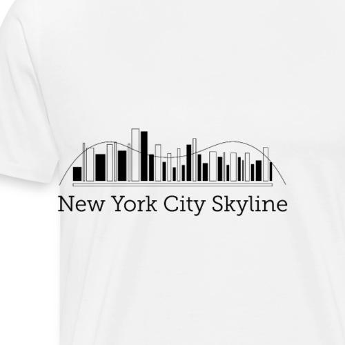 ny skyline - Koszulka męska Premium