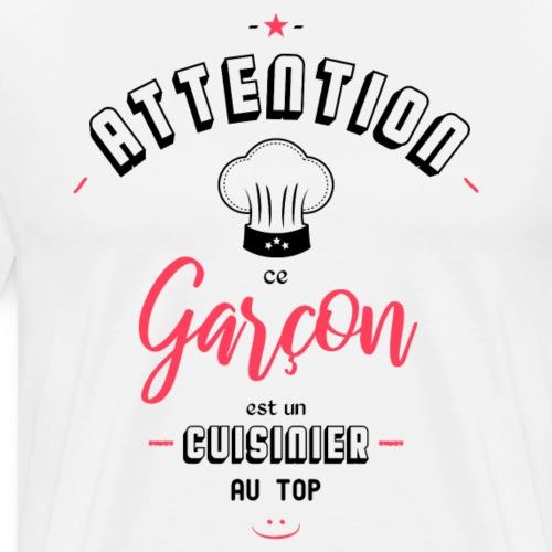 Attention cuisinier au top - T-shirt Premium Homme