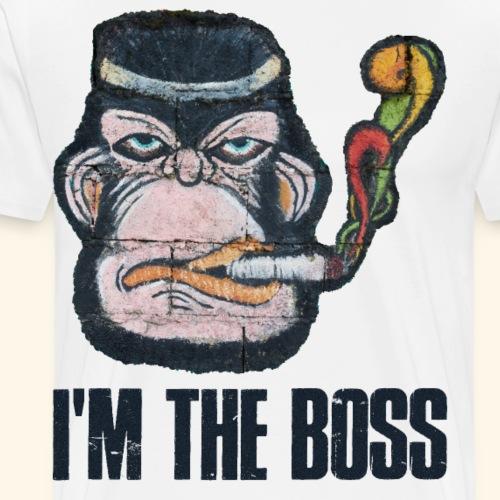 El Capitan Cooler Affe Anführer im Berufsdschungel - Männer Premium T-Shirt