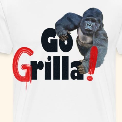 Witziges Gorilla Go Grilla Sommer Grillparty - Männer Premium T-Shirt