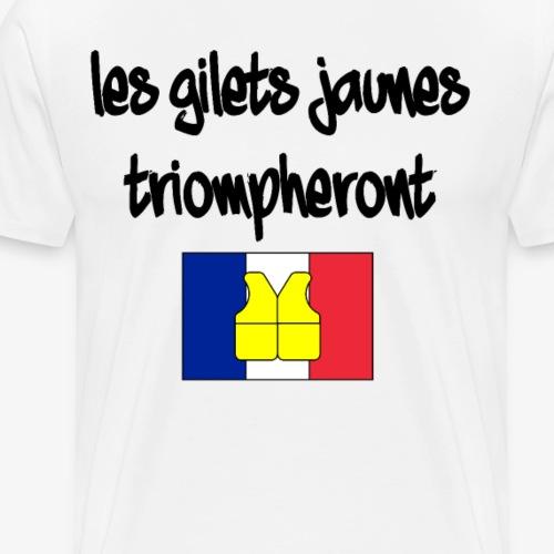nous somme les pouvoir GILETS JAUNES - Männer Premium T-Shirt