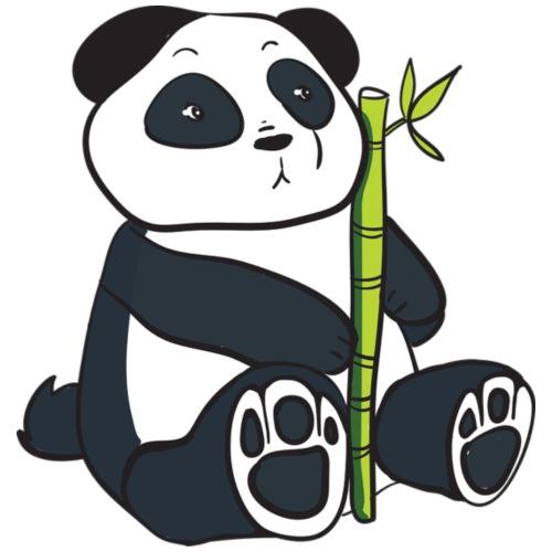 Oso Panda con Bamboo - Camiseta premium hombre