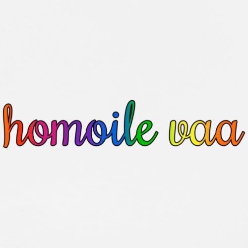 Homoile vaa - Miesten premium t-paita