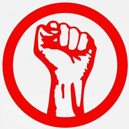 1 color - against capitalism working class war - Männer Premium T-Shirt